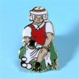 Comic lady Lapel Badge (B6706)
